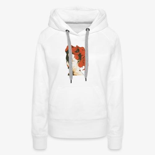 Illustratie smeltende vrouw - Vrouwen Premium hoodie