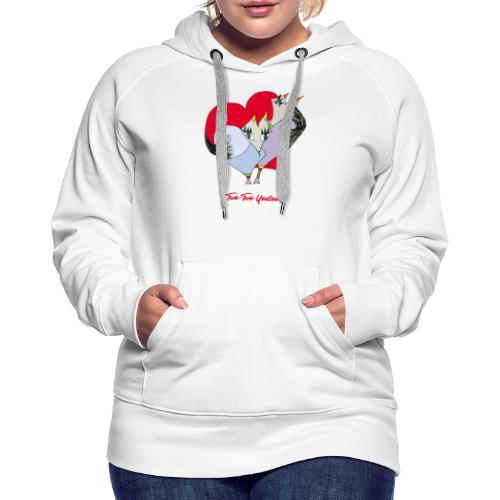 Two-Two Youtou - Sweat-shirt à capuche Premium pour femmes