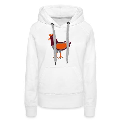 Cock.svg - Felpa con cappuccio premium da donna