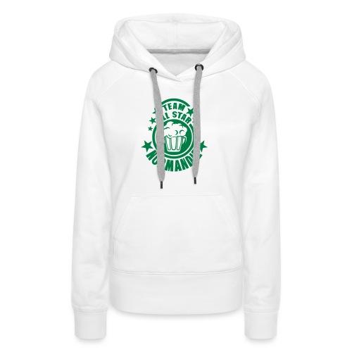normandie team all star biere alcool 15 - Sweat-shirt à capuche Premium pour femmes