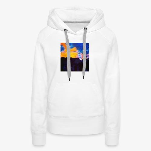 Artistic Sunset - Felpa con cappuccio premium da donna