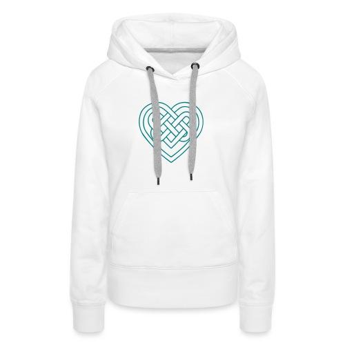 Keltisches Herz, Endlos Knoten, Liebe & Treue - Frauen Premium Hoodie