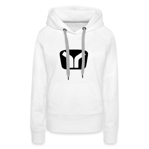 Yugo Logo Black-White Design - Women's Premium Hoodie