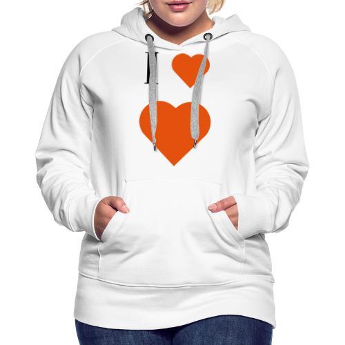 I Heart heart - Women's Premium Hoodie