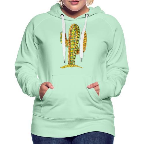 Le cactus - Sweat-shirt à capuche Premium pour femmes