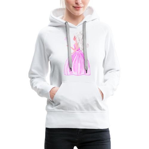 princesse et papillon - Sweat-shirt à capuche Premium pour femmes