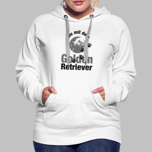 DIE MIT DEM GOLDEN RETRIEVER - Pfotenabdruck Hund - Frauen Premium Hoodie