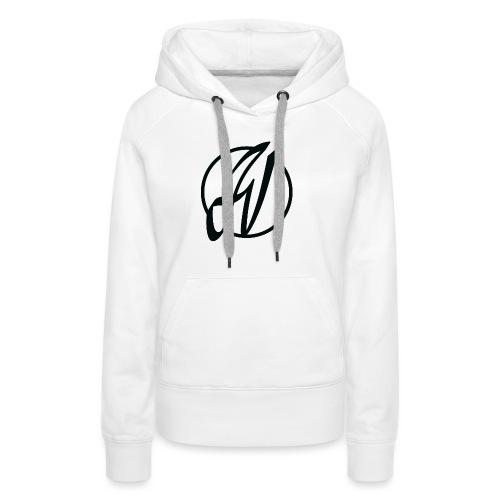 JV Guitars - logo noir - Sweat-shirt à capuche Premium pour femmes