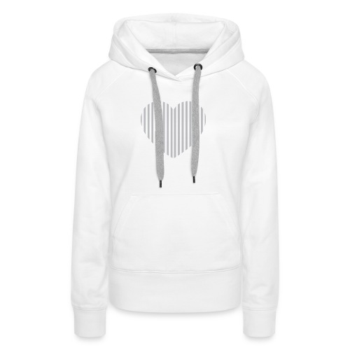 heart_striped.png - Women's Premium Hoodie