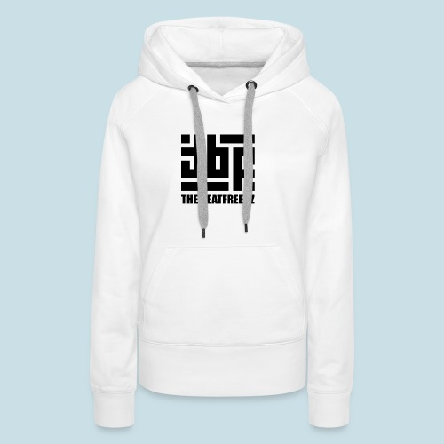 the beatfreekz logo 3 black - Women's Premium Hoodie