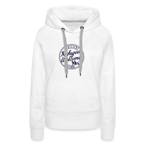 logo_refugges_navy - Frauen Premium Hoodie
