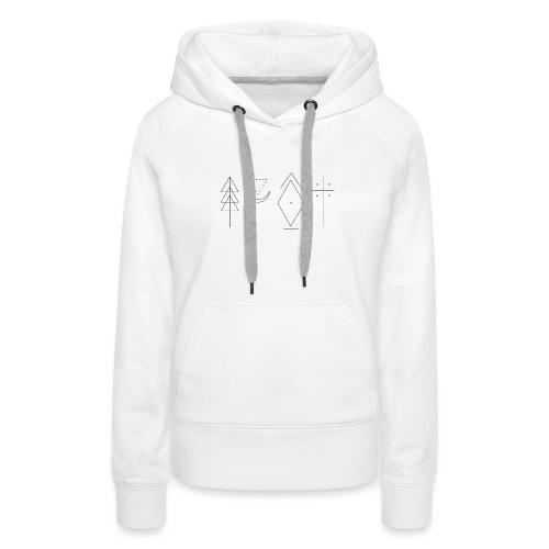 Zayn Tattoos - Sweat-shirt à capuche Premium pour femmes
