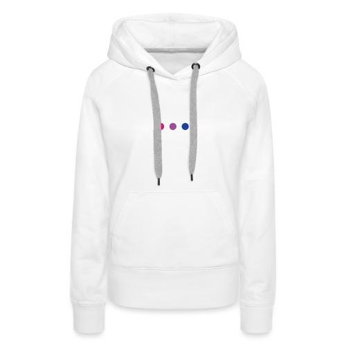 Logo LGBT Bi - Sweat-shirt à capuche Premium pour femmes