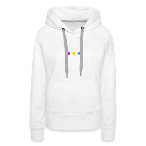 Logo LGBT Pansexuel - Sweat-shirt à capuche Premium pour femmes