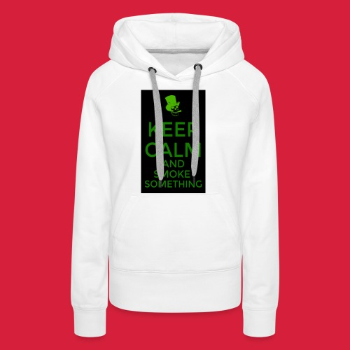 smoke something shirt - Vrouwen Premium hoodie