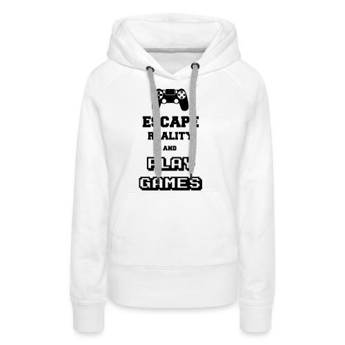 Play Games - Sweat-shirt à capuche Premium pour femmes