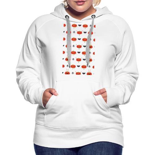 halloween pattern - Sweat-shirt à capuche Premium pour femmes
