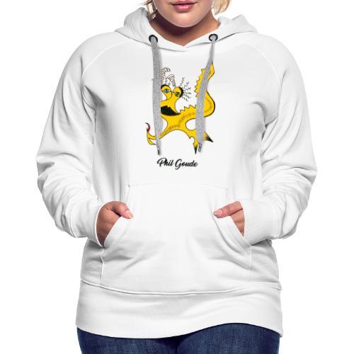 Phil Goude - Sweat-shirt à capuche Premium pour femmes