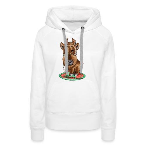 Reindeer refined scribblesirii - Dame Premium hættetrøje