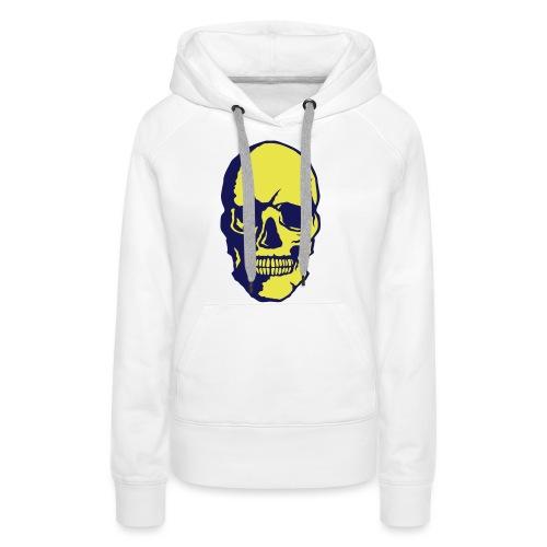 tete de mort crane halloween fantaisie 2 - Sweat-shirt à capuche Premium pour femmes