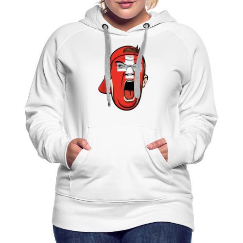 Yelling Swiss Face - Frauen Premium Hoodie