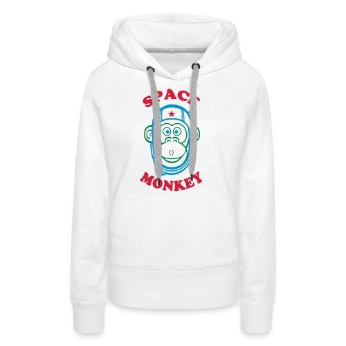 Space Monkey - Sweat-shirt à capuche Premium pour femmes