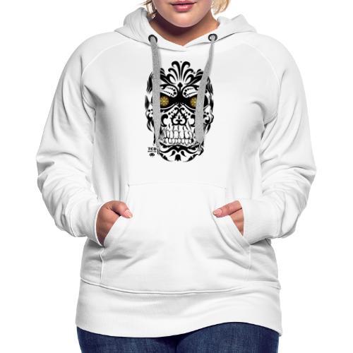 Mexican Skull - Sweat-shirt à capuche Premium pour femmes