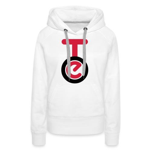 logo TEO shirt EPS - Felpa con cappuccio premium da donna