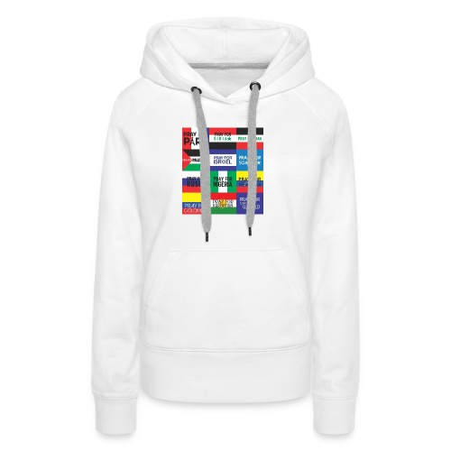 Pray for the World - Vrouwen Premium hoodie