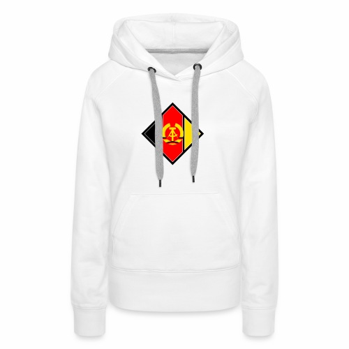 DDR coat of arms stylized - Women's Premium Hoodie