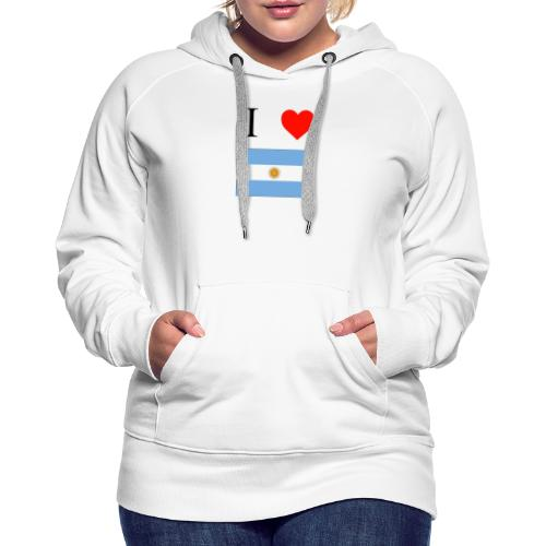i love argentina - Sudadera con capucha premium para mujer