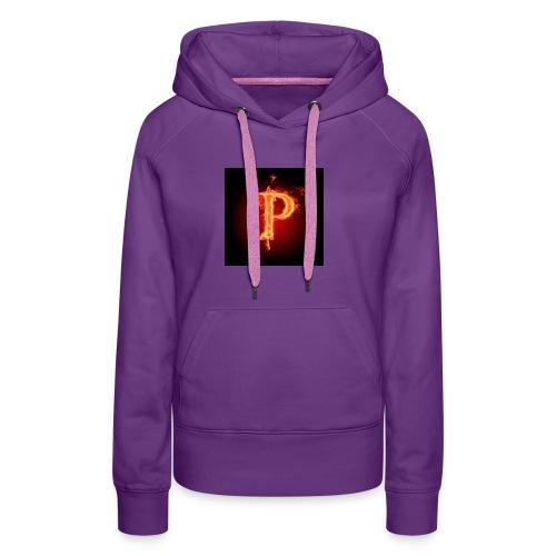 Power player nuovo logo - Felpa con cappuccio premium da donna