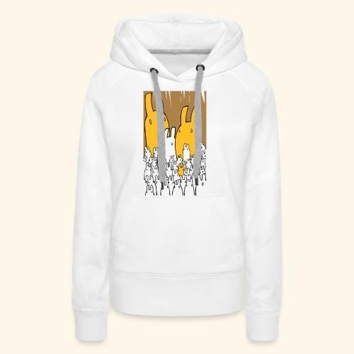 LittleBunnies - Sweat-shirt à capuche Premium pour femmes