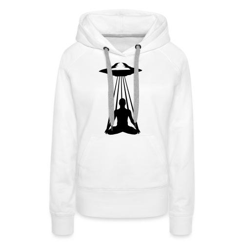 UFO MEDITATION - Sweat-shirt à capuche Premium pour femmes