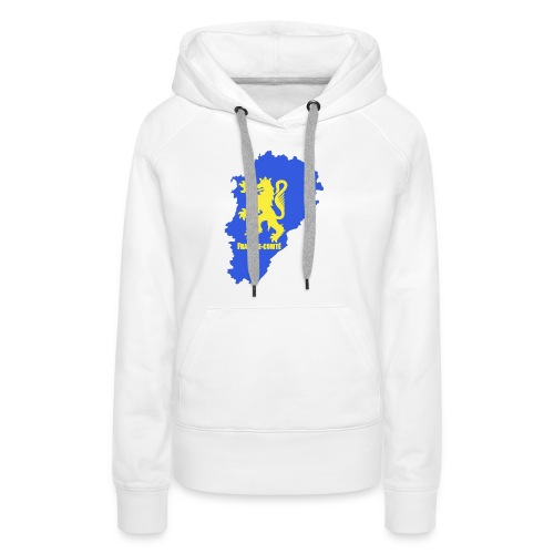 Carte Franche-Comté + lion - Sweat-shirt à capuche Premium pour femmes