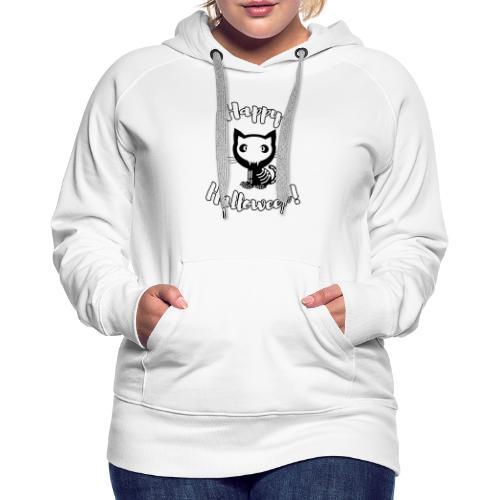 Happy Halloween Katze Gerippe Geschenkidee - Frauen Premium Hoodie