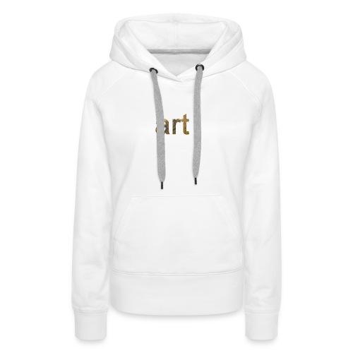 art - Sweat-shirt à capuche Premium pour femmes