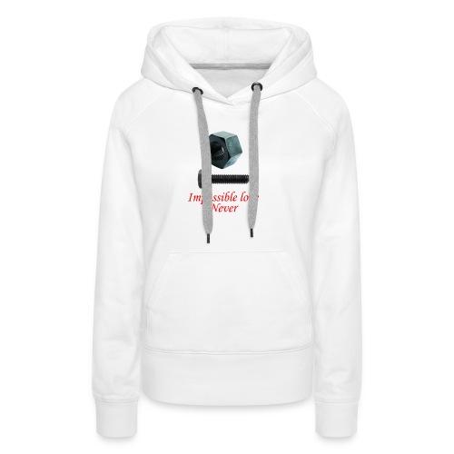 2 Amor imposible nunca - Sudadera con capucha premium para mujer