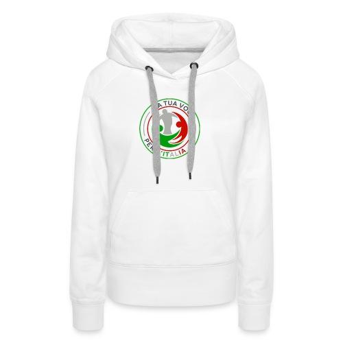 LA_TUA_VOCE_PER_ITALIA_01-png - Felpa con cappuccio premium da donna