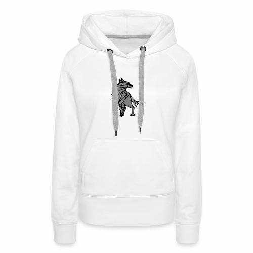 loup geometrique - Sweat-shirt à capuche Premium pour femmes