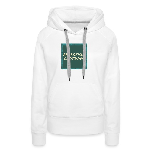 LIMITED EDITION 'Freestyle Clothing' Camo Box Logo - Women's Premium Hoodie