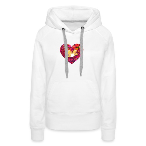 Make your heart fly with peace - Women's Premium Hoodie