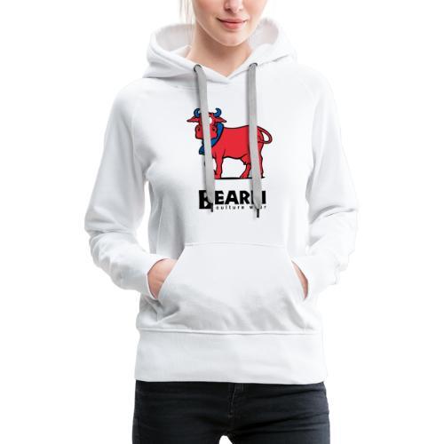 Vache Béarn - Sweat-shirt à capuche Premium pour femmes