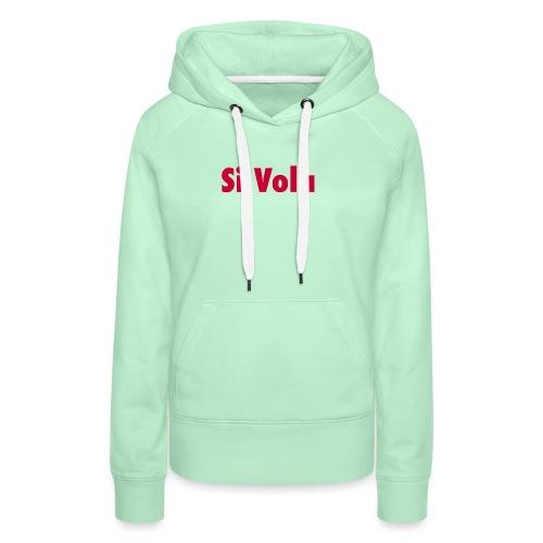 SiVola - Felpa con cappuccio premium da donna