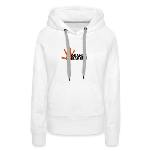 Orange Makers (Sort tekst) - Dame Premium hættetrøje