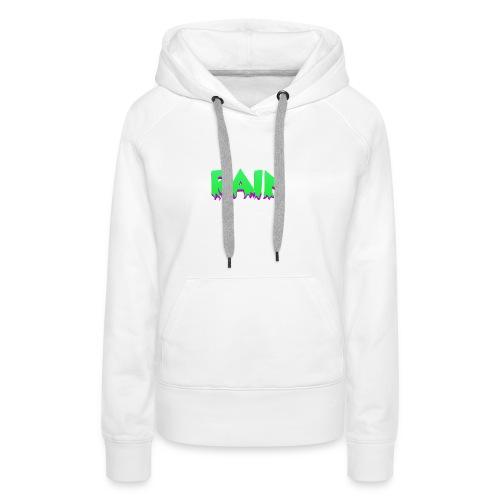Rain Hoodie 3 White - Sudadera con capucha premium para mujer