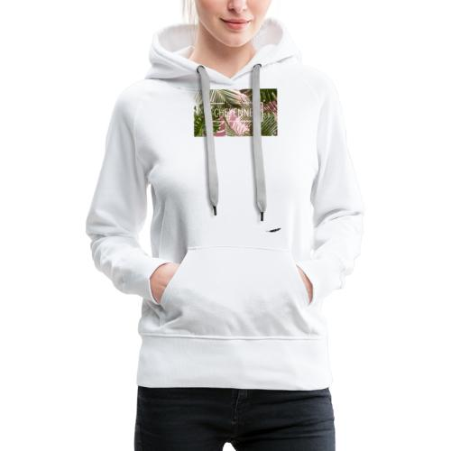 PalmBiche - Sweat-shirt à capuche Premium pour femmes