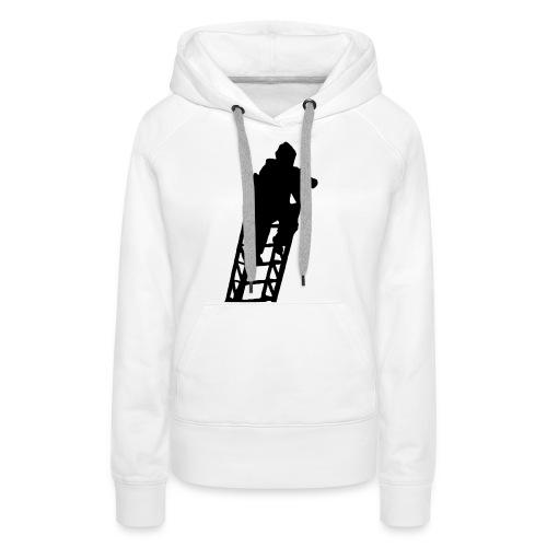 Un Sapeur Pompier sur échelle - Sweat-shirt à capuche Premium pour femmes