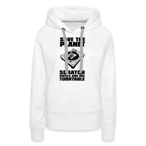 Scratch vinyl n47 - Sweat-shirt à capuche Premium pour femmes