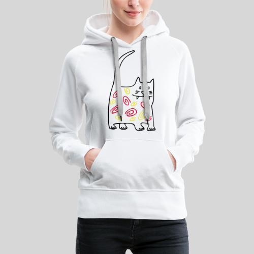 schöne dicke katze - Frauen Premium Hoodie